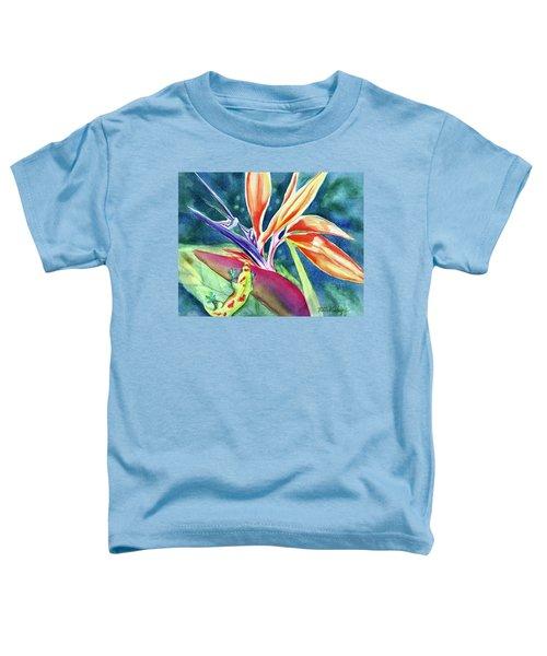 Gecko On Bird Of Paradise Toddler T-Shirt