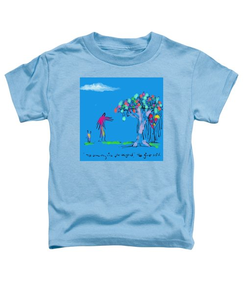 Giant, Boy, And Doorway Toddler T-Shirt
