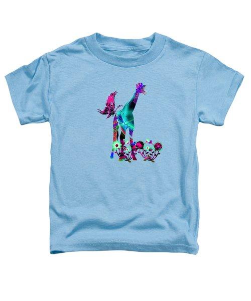 Giraffe And Flowers2 Toddler T-Shirt