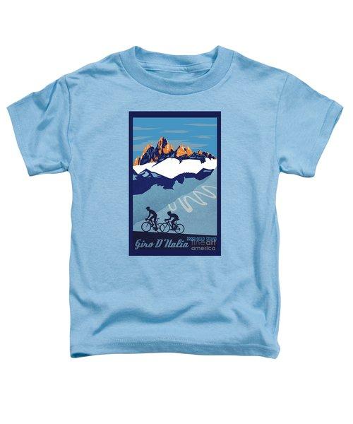Giro D'italia Cycling Poster Toddler T-Shirt