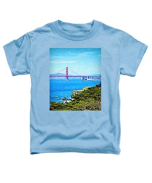 Golden Gate Bridge From The Coastal Trail Toddler T-Shirt