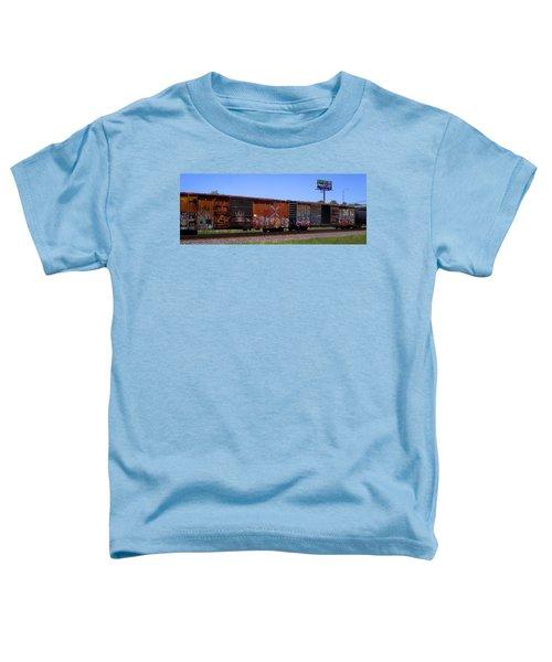 Graffiti Train With Billboard Toddler T-Shirt