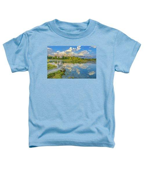 Grand Teton Riverside Morning Reflection Toddler T-Shirt