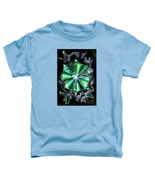Green Beryl Crystals In Space Toddler T-Shirt