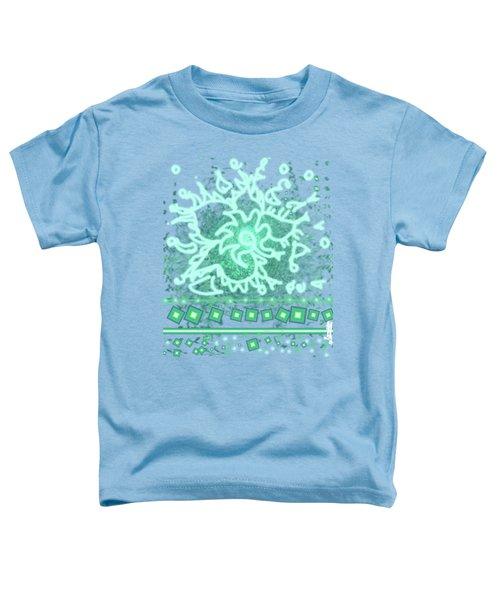 Green Floral Design Toddler T-Shirt