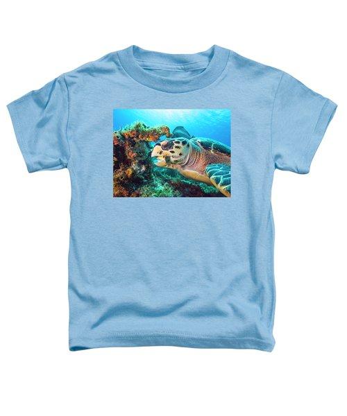 Green Turtle Dining Toddler T-Shirt
