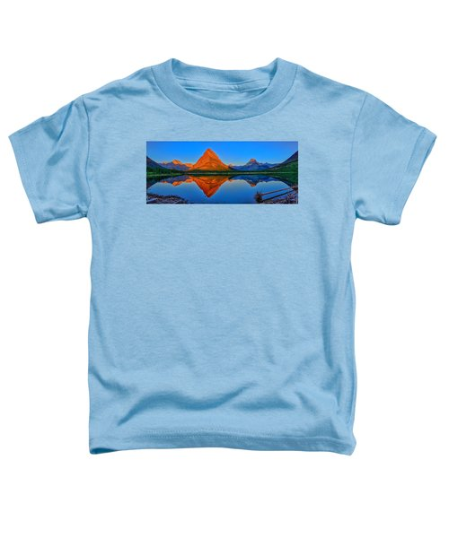 Grinnell Point Alpenglow Panorama Toddler T-Shirt