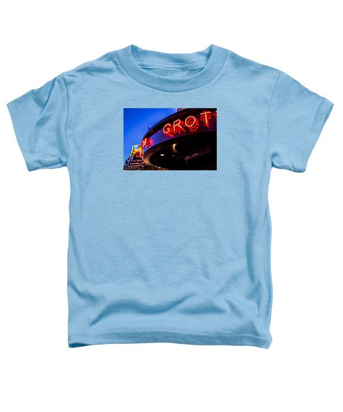 Toddler T-Shirt featuring the photograph Grotto - Night View by Lora Lee Chapman