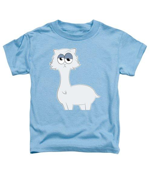 Grumpy Persian Cat Llama Toddler T-Shirt by Catifornia Shop