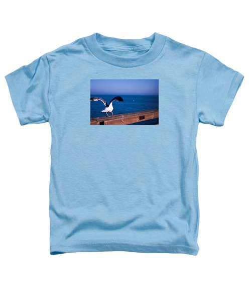 Toddler T-Shirt featuring the photograph Gull Dance by Lora Lee Chapman