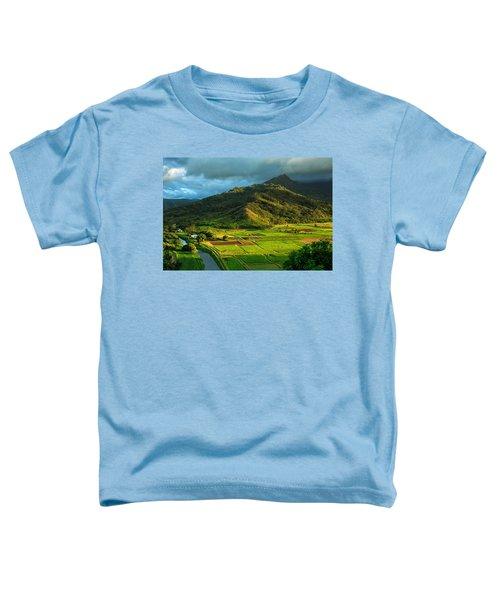 Hanalei Valley Taro Fields Toddler T-Shirt