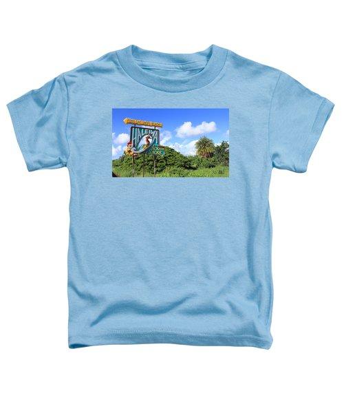 Hand-carved Hale'iwa Toddler T-Shirt