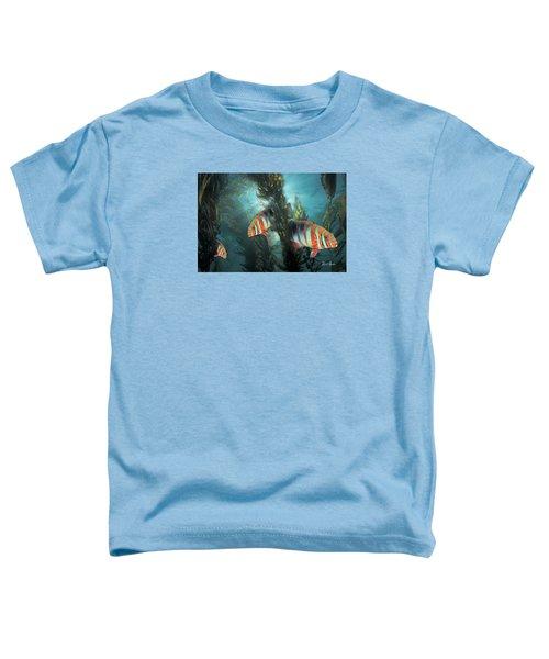 Harlequin Tusk In Kelp Toddler T-Shirt