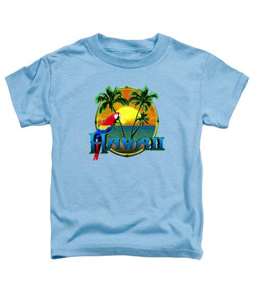 Hawaii Parrot Toddler T-Shirt by Chris MacDonald