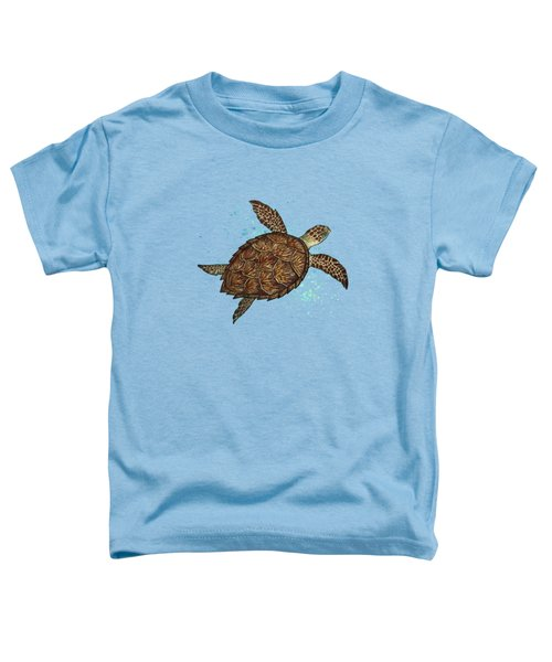 Hawksbill Sea Turtle Toddler T-Shirt by Amber Marine