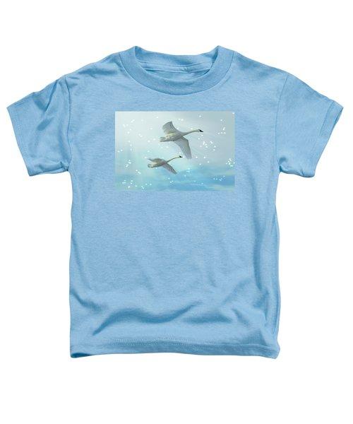 Heavenly Swan Flight Toddler T-Shirt