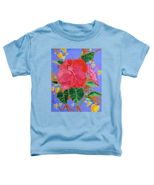 Hibiscus Motif Toddler T-Shirt