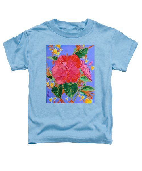 Hibiscus Motif Toddler T-Shirt