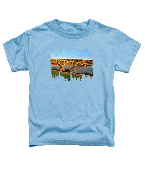 Historic Patterson Bridge Gold Beach Toddler T-Shirt by Thom Zehrfeld