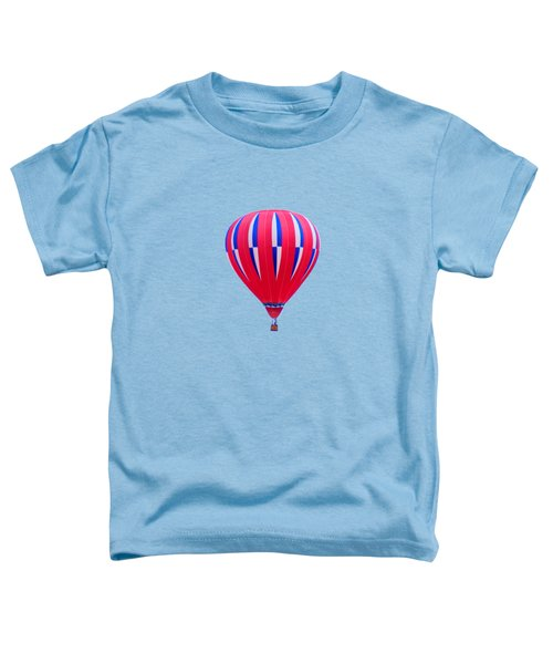 Hot Air Balloon - Red White Blue - Transparent Toddler T-Shirt