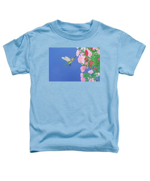 Hummingbird And Petunias Toddler T-Shirt