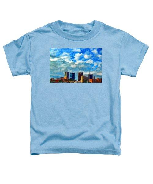 Huntsville Alabama Skyline Abstract Art Toddler T-Shirt