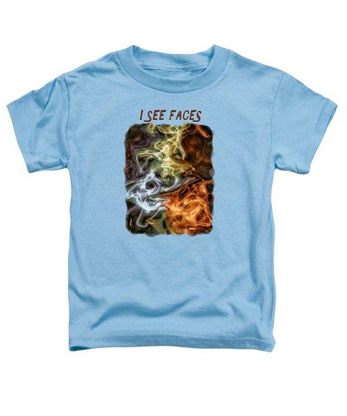 I See Faces Toddler T-Shirt