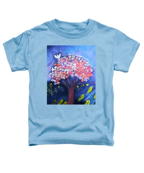 Toddler T-Shirt featuring the painting Joy by Winsome Gunning