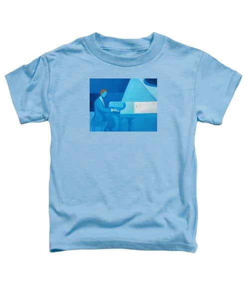 Justin Levitt Steinway Piano Blue Toddler T-Shirt