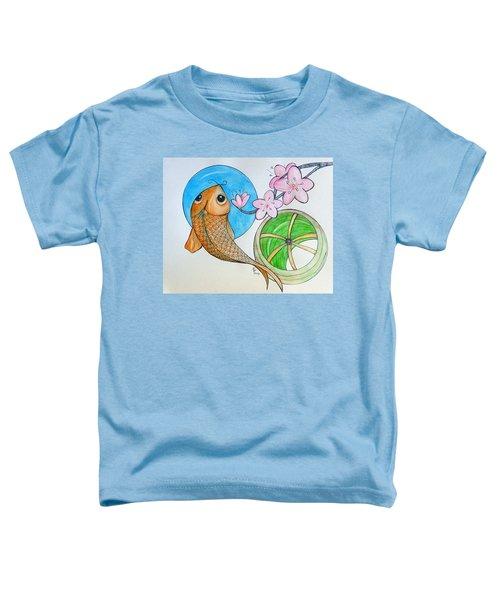 Karp And Cherry Blooms Toddler T-Shirt