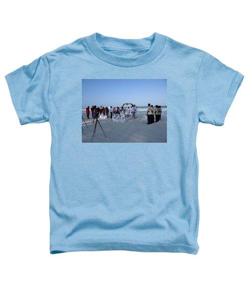 Kenya Wedding On Beach 2 With Maasai Toddler T-Shirt