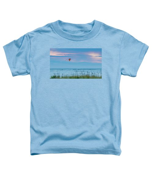 Kite In The Air At Sunset Toddler T-Shirt