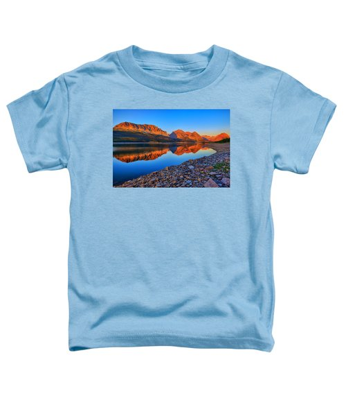 Toddler T-Shirt featuring the photograph Lake Sherburne Dawn by Greg Norrell