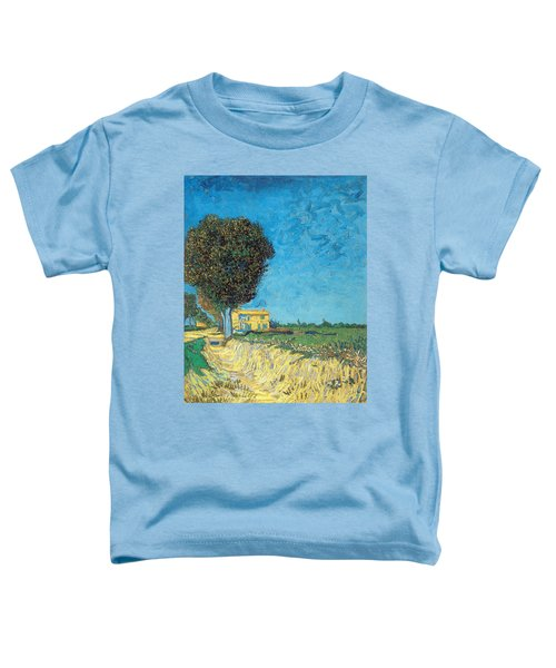 Toddler T-Shirt featuring the painting Lane Near Arles by Van Gogh