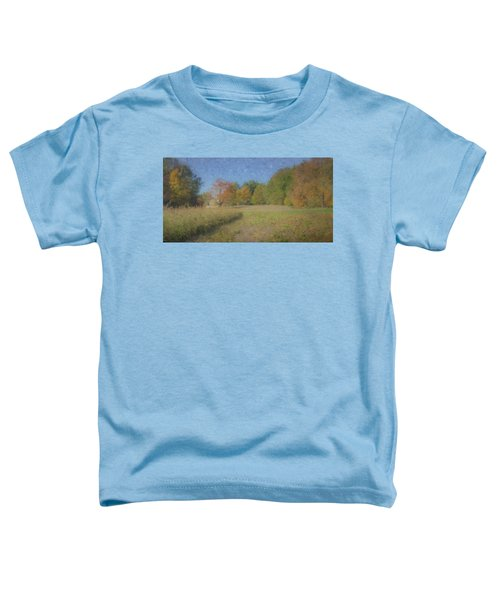 Langwater Farm With Pumpkins And Chateau Toddler T-Shirt