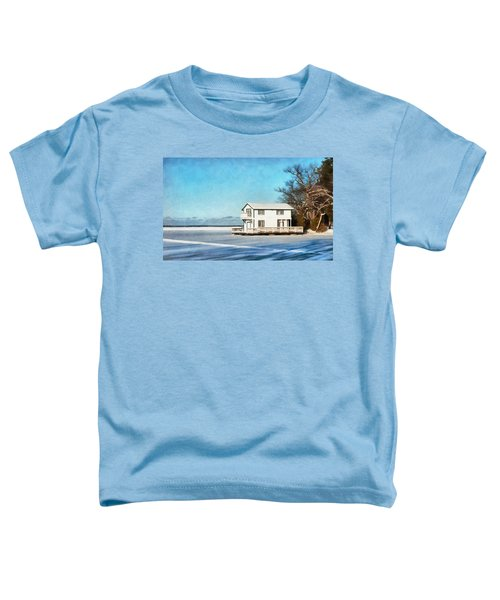 Leacock Boathouse In Winter Toddler T-Shirt