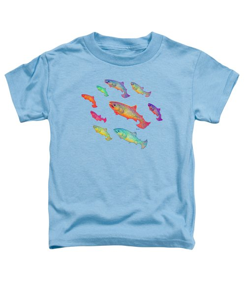 Leaping Salmon Shirt Image Toddler T-Shirt by Teresa Ascone