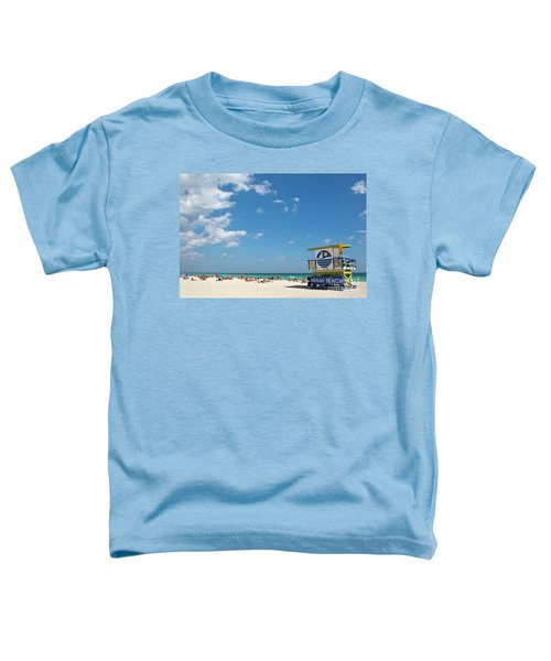 Lifeguard Station Miami Beach Florida Toddler T-Shirt
