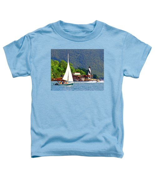 Lighthouse Sailors Smith Mountain Lake Toddler T-Shirt