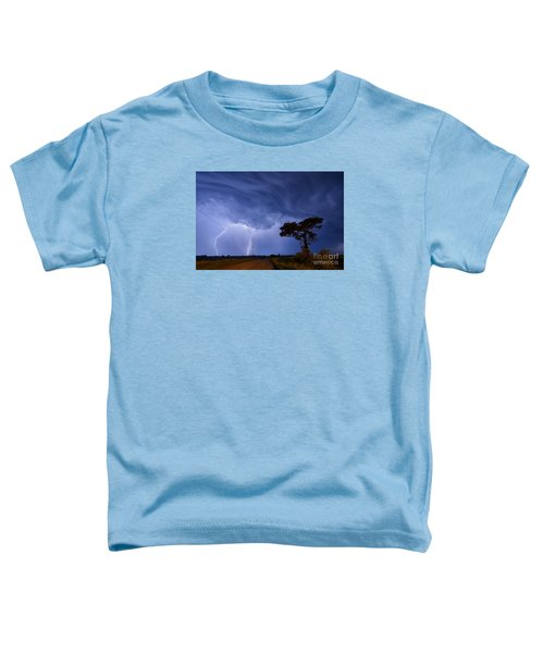 Lightning Storm On A Lonely Country Road Toddler T-Shirt