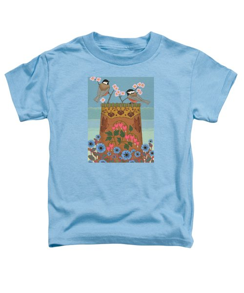 Toddler T-Shirt featuring the painting Little Bird by Chholing Taha