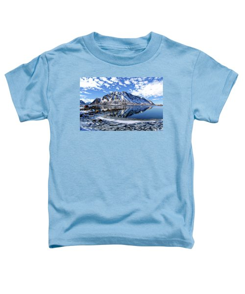 Lofoten Winter Scene Toddler T-Shirt