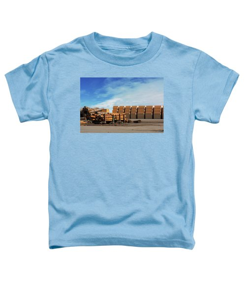 Logs And Plywood At Lumber Mill Toddler T-Shirt