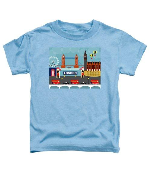 London England Horizontal Scene - Collage Toddler T-Shirt by Karen Young