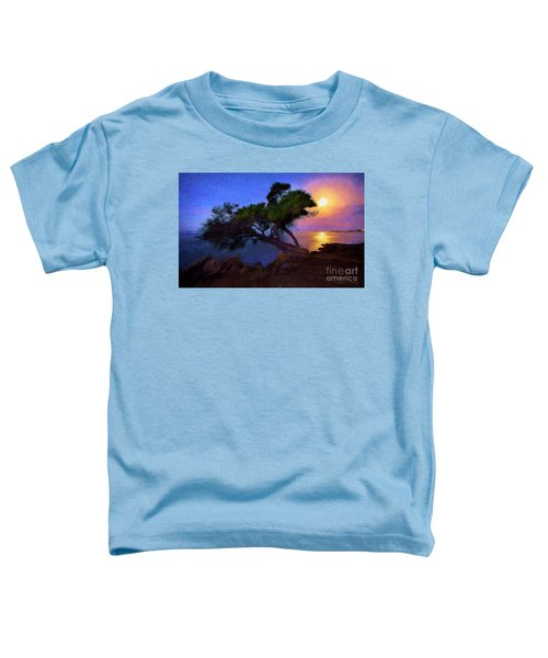 Lone Tree On Pacific Coast Highway At Moonset Toddler T-Shirt