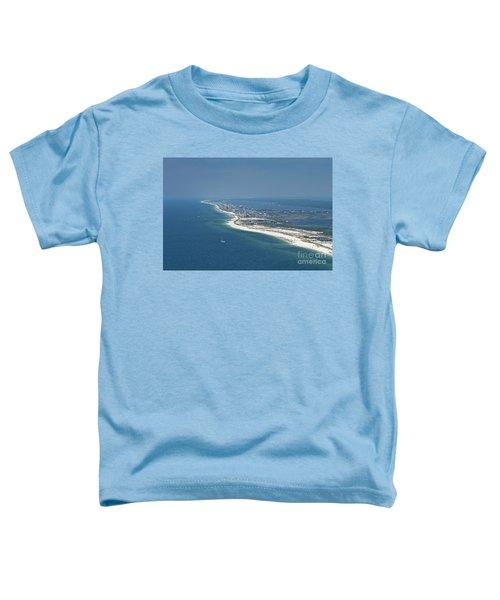 Long, Aerial, Beach View Toddler T-Shirt