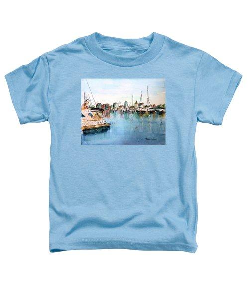 Long Beach Coastal View Toddler T-Shirt