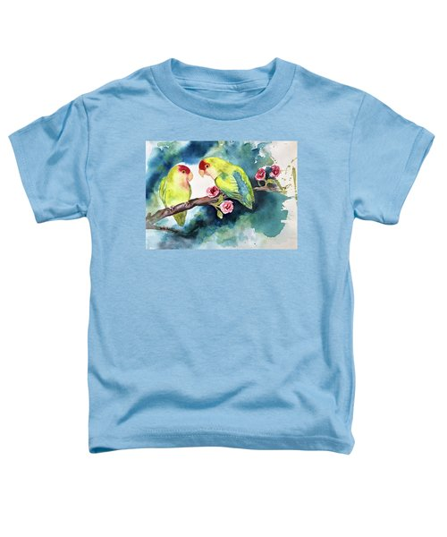 Love Birds On Branch Toddler T-Shirt