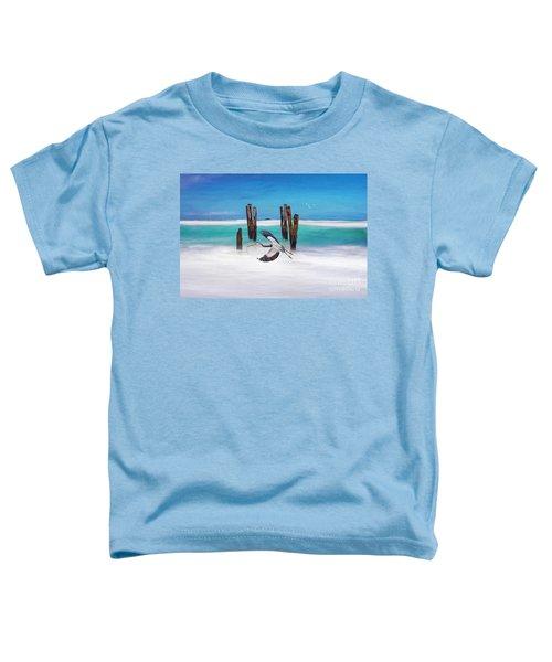 Low Flying Heron Toddler T-Shirt