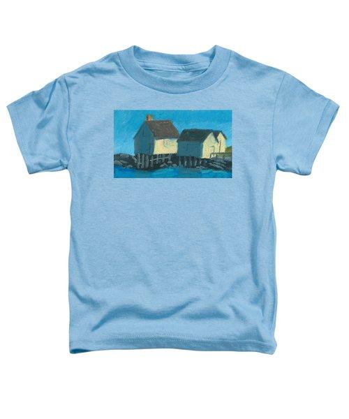 Maine Beach Fishing Shacks Toddler T-Shirt